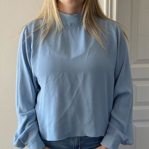Babaton Blue Blouse